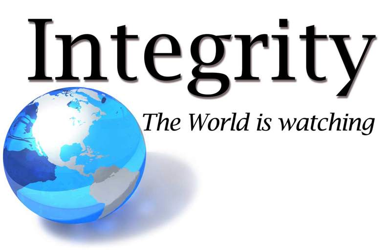Integrity the World is Watching , Blue Globe , metrowatertucson